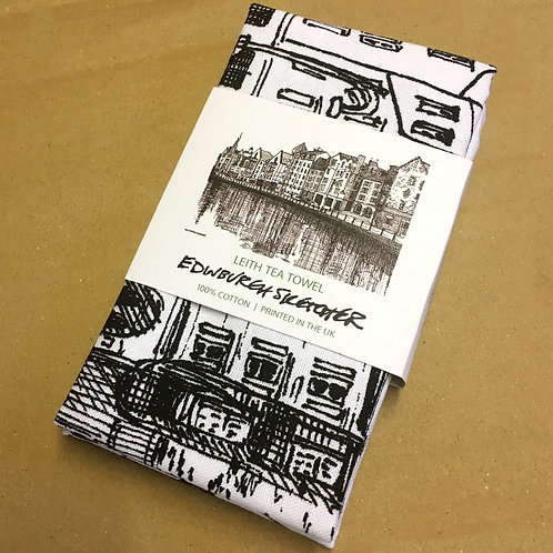 Edinburgh Sketcher - Leith tea towel