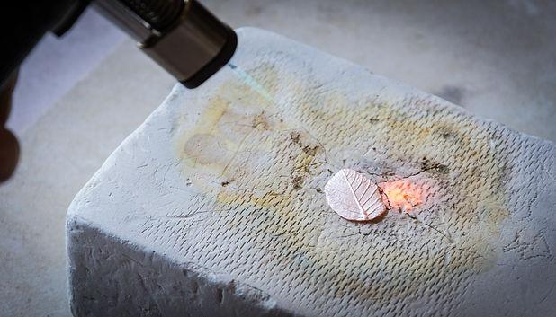 Anna Campbell silver clay firing.jpg