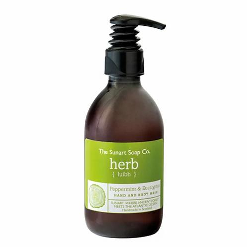 The Sunart Soap Co - Peppermint & eucalyptus organic hand & body wash 300ml