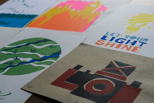 Introduction to screen printing using paper stencils: 12 May 2021 6pm-9pm