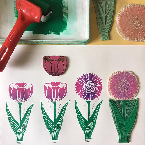 Lino-printing taster workshop: 13 February 2021 10am-1pm