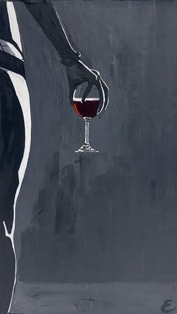 La copa de vino.