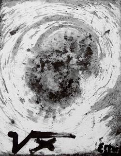 Paisaje lunar VIII 24x19