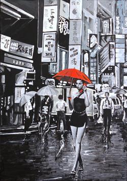 Paraguas rojo IV.