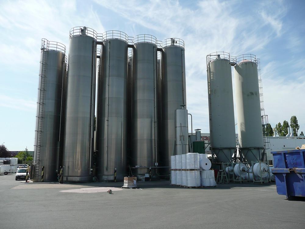 relevé de mesure sur silos