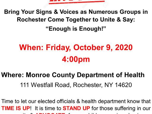 Enough is Enough Rally - Friday 10/9 at 4pm