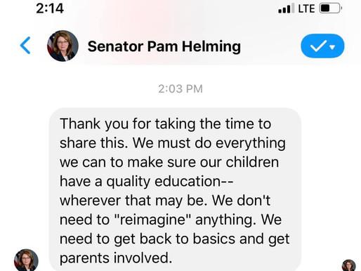 Senator Pam Helming Cares