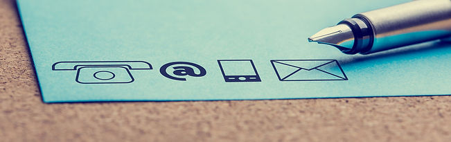 numerous ways to contact - email, phone, mail