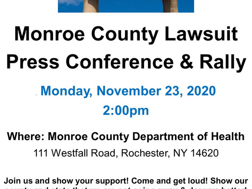 Monroe County Lawsuit Press Conference & Rally - Monday 11/23 at 2pm