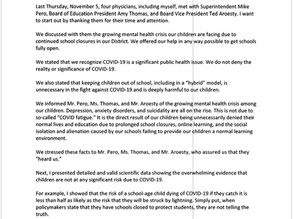 Pittsford Parent & Physician Speaks Out at Board of Education Meeting