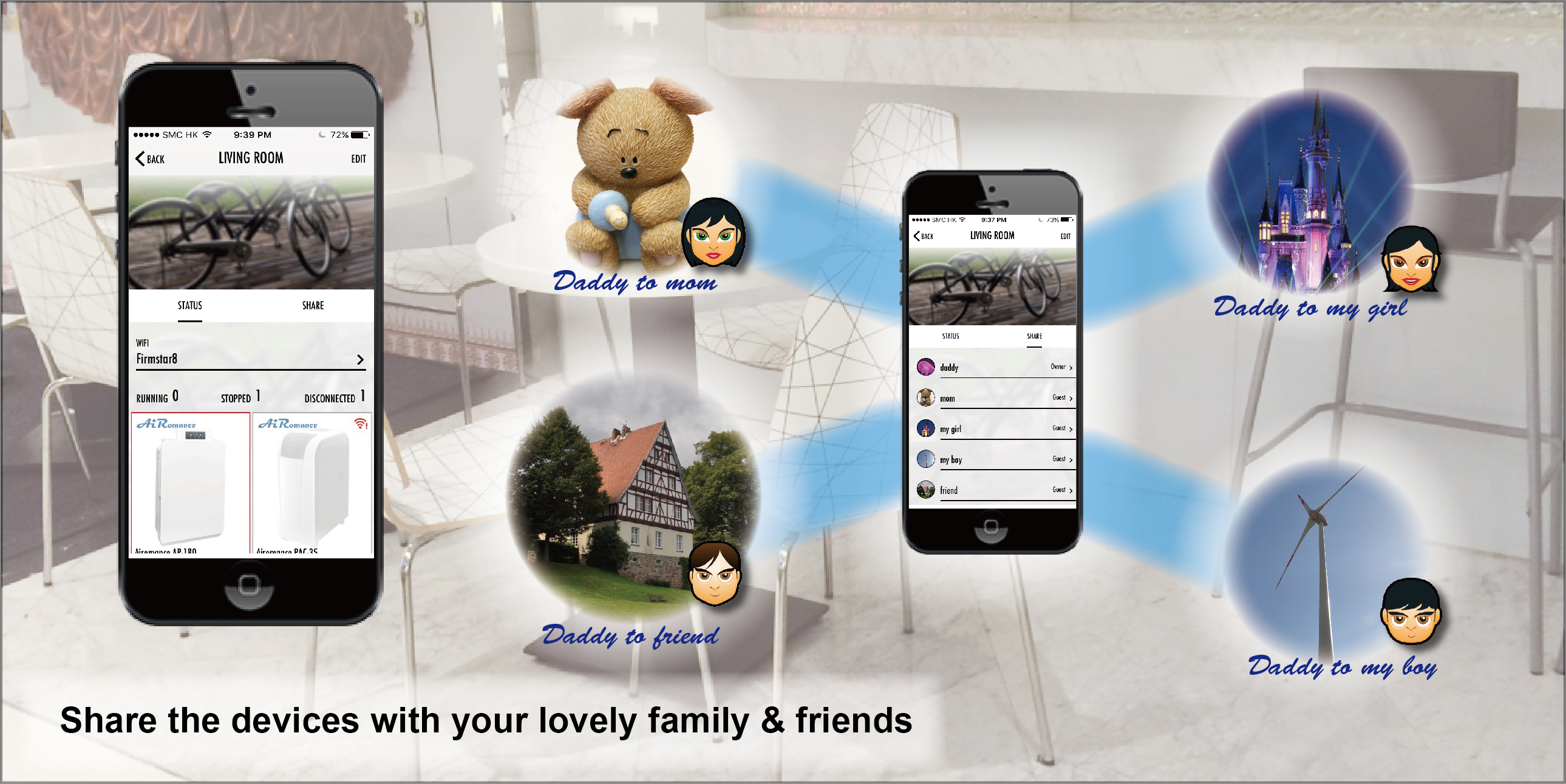 Share the devices with your lovely family & friends   20160516