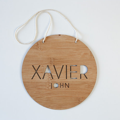 Cutout Name Personalised Hanging Plaque
