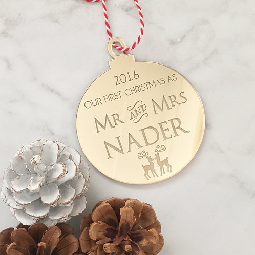 'Our First Christmas As' Personalised Ornament