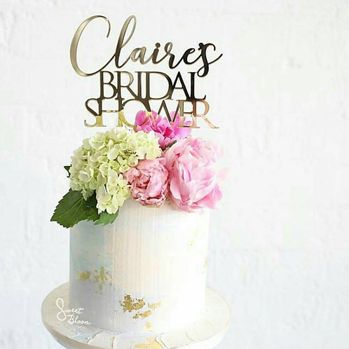 Bridal Shower Personalised Cake Topper