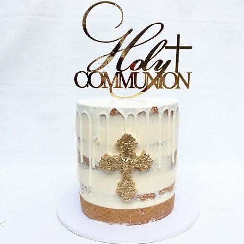 Holy Communion Cake Topper