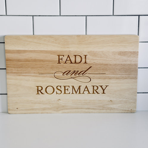 Double Name Personalised Serving Board