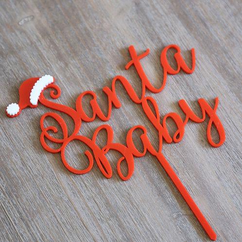 Santa Baby Cake Topper