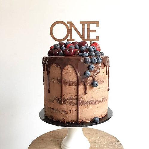 Written Number Cake Topper