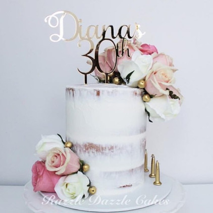 Number & Age Personalised Cake Topper 1