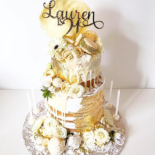 Name is Age (Number) Personalised Cake Topper