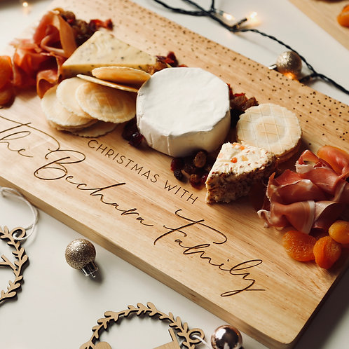 Christmas Family Personalised Serving Board