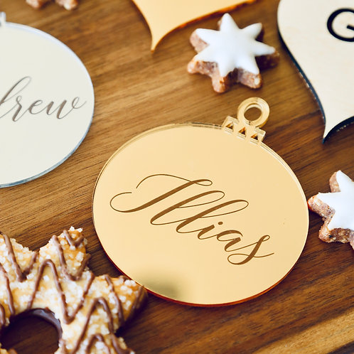 Bauble Personalised Etched Ornament