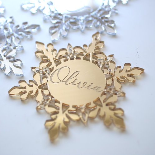 Snowflake Personalised Ornament