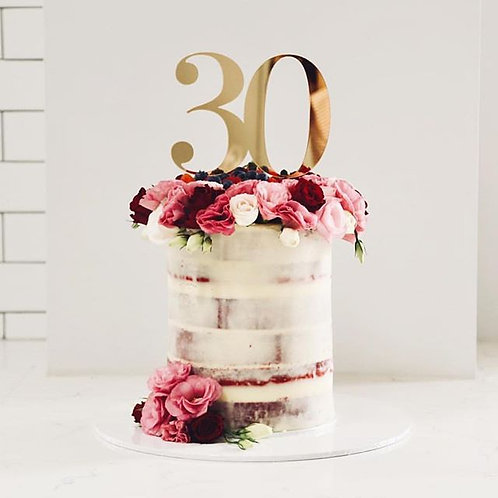 Double/Triple Digit Number Cake Topper