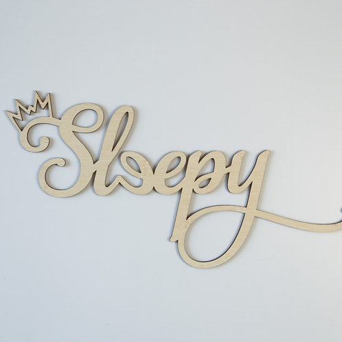 Sleepy Crown Wall Plaque