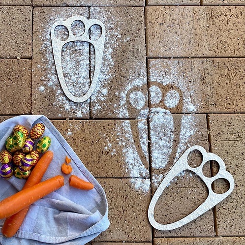 Easter Bunny Footprint Stencils