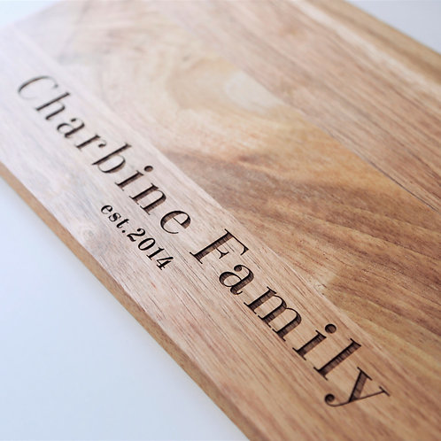 Family Name Personalised Serving Board