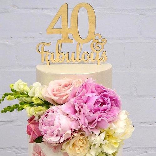Age & Fabulous Cake Topper