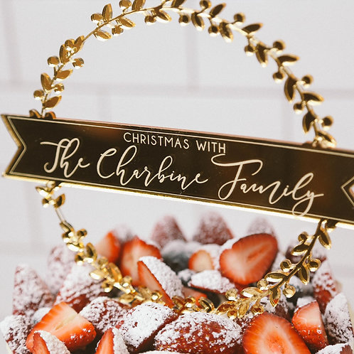 Family Wreath Personalised Cake Topper