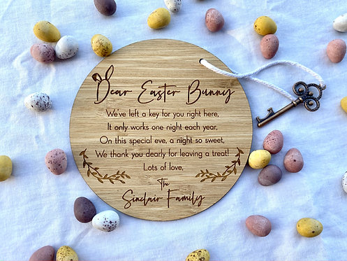 Easter Bunny Key Personalised Plaque