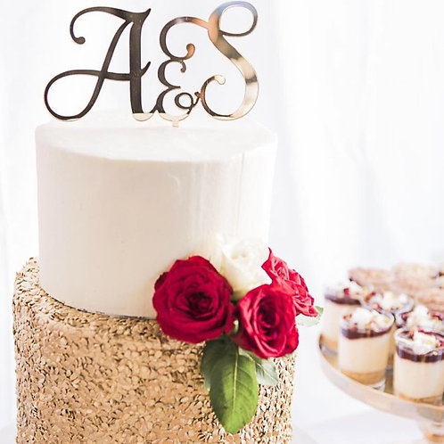 Double Initials Personalised Cake Topper