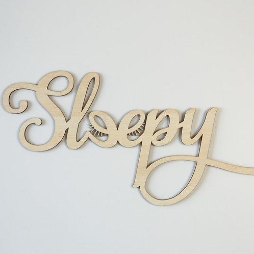 Sleepy Lashes Wall Plaque