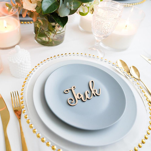 Cutout Name Place Cards