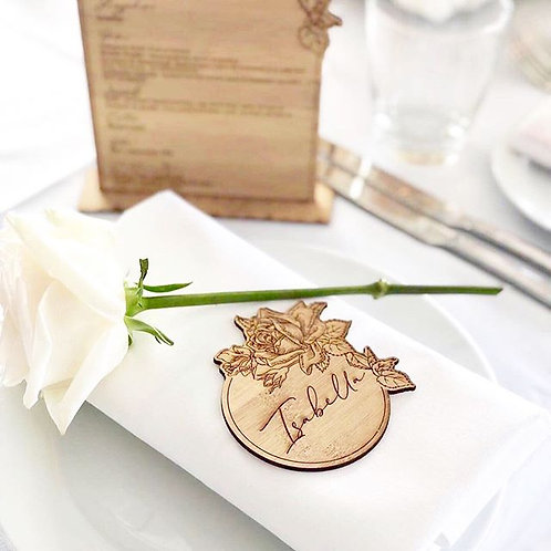 Floral Name Place Cards