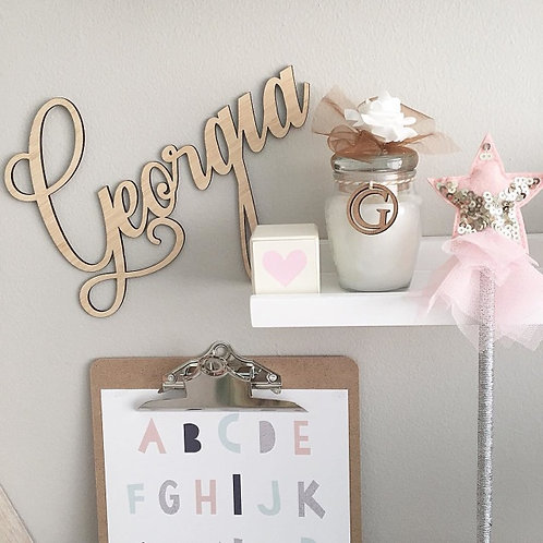 Small Letter Cutout Personalised Sign