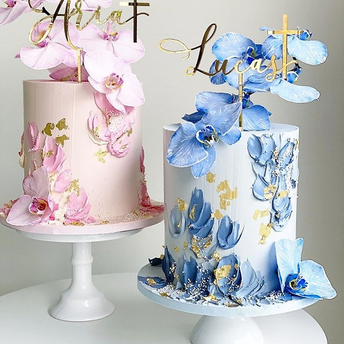 Name and Cross Personalised Cake Topper