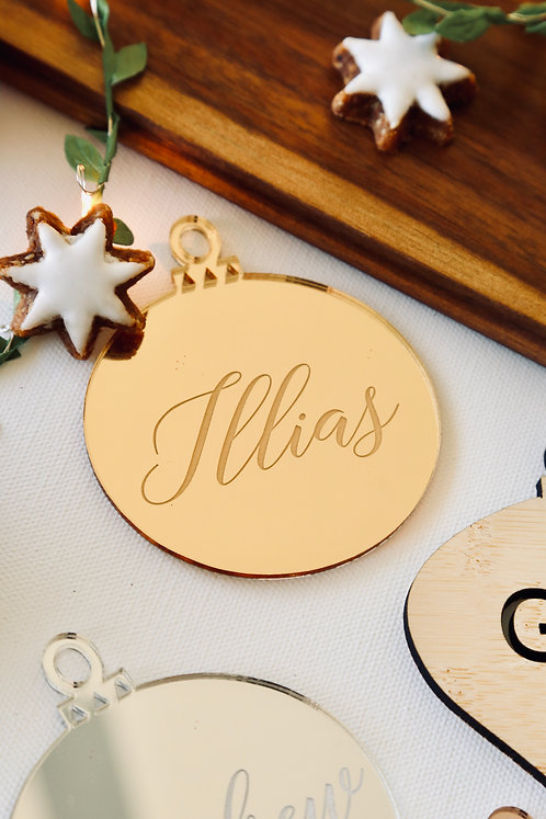 Bauble Personalised Etched Cutout Ornament