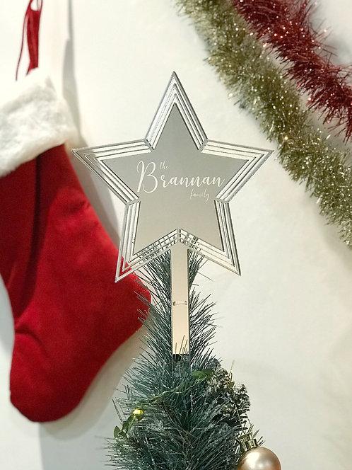 Personalised Christmas Tree Star