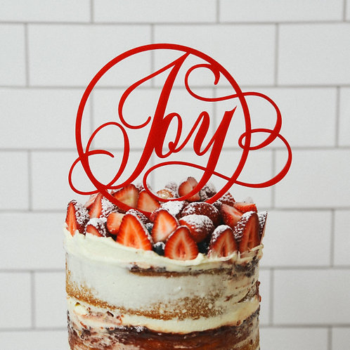 Joy Cake Topper