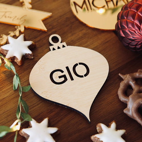 Droplet Personalised Cutout Ornament