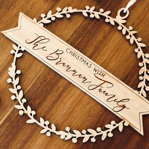 Large Family Wreath Personalised Ornament