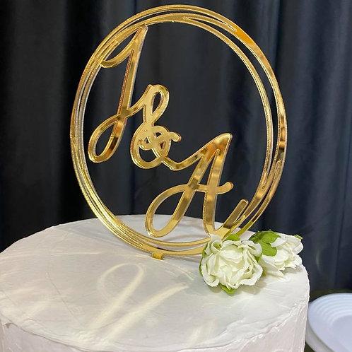 Circled Personalised Cake Topper