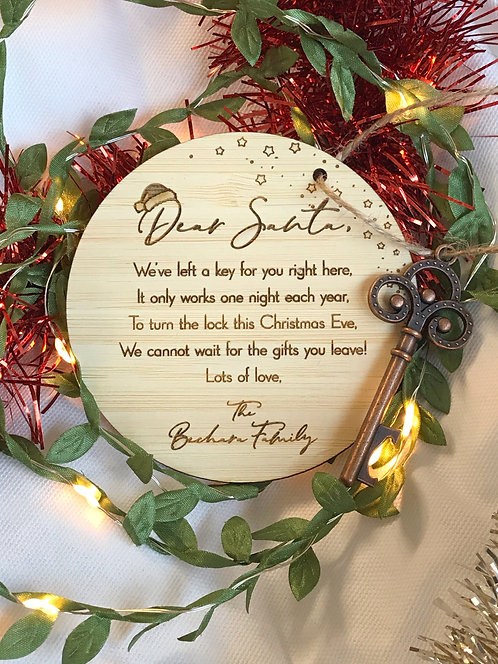 Santa Key Personalised Plaque