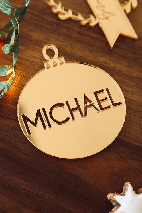 Bauble Personalised Cutout Ornament