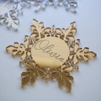 Snowflake Personalised Ornament