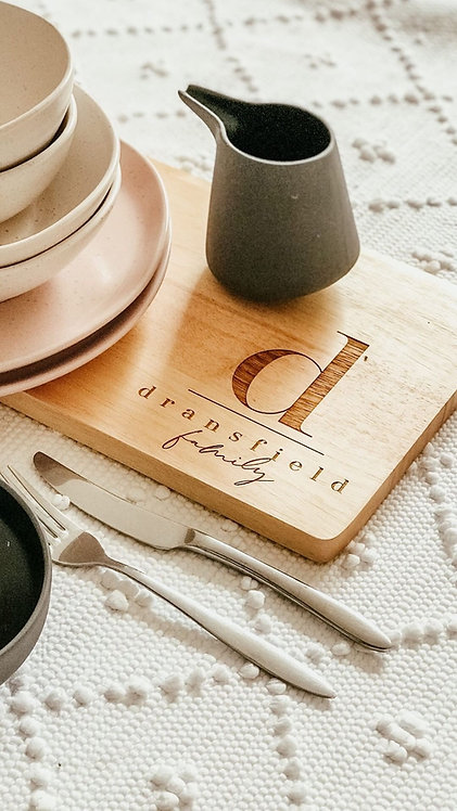 Family Initial Personalised Serving Board